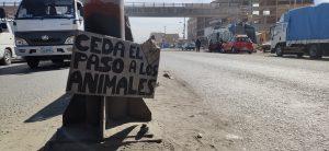 Anuncios en la Carretera a Oruro